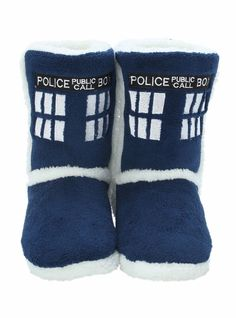 BBC Doctor Who Women's TARDIS Boot Slippers - SMALL - Officially Licensed  #DoctorWho #Booties