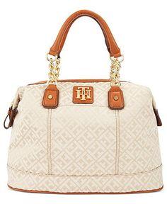 Tommy Hilfiger Handbag, Bombay Jaquard Bowler Bag - All Handbags - Handbags & Accessories - Macy's