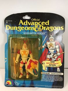 Vintage LJN Advanced Dungeons And Dragons Bowmarc Good Crusader Moc Sealed Dungeons And Dragons Figures, Advanced Dungeons And Dragons, Retro Toys, Vintage Toys, Retro Vintage, Gi Joe, Childhood Toys, Childhood Memories, 1980s Kids