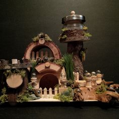 OOAK Fairy House: Fairy Bay Lighthouse by BirchTreeFairyHouses on Etsy