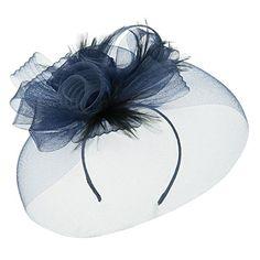 Horsehair Fascinator Hair Clip - Navy OSFM SS/Hat http://www.amazon.com/dp/B00U1UT53W/ref=cm_sw_r_pi_dp_-IDjvb1E8CGK8