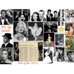 """""""Idols of the 1950's"""" by daincy on Polyvore"""