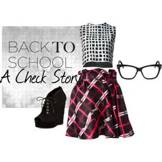 """A Check Story"" by rea-jain on Polyvore"
