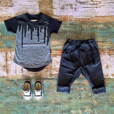Huxbaby paint drip tee, Zuttion stretch denim slouchies & Converse sneakers. Shop these styles in store & online. www.tinystyle.com.au/Shop-Insta #boysfashion #coolkidsclothes #huxbaby #tinystyle