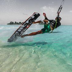 1 foot darkslide 'to eat it'. #kitesurfing #kiteboarder #kiteboarding #photography