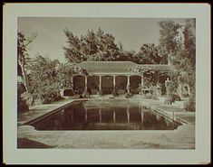Estate of Mrs. Woodward Vietor, residence in Palm Beach, Florida, swimming pool Best Memories, Palm Beach, Swimming Pools, Florida, Gelatin, Barefoot, Prints, Painting, Art