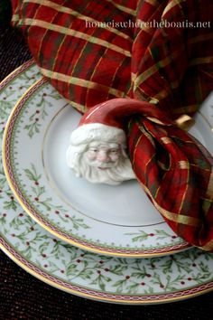 I'm ushering in the Christmas Season, at the table with Mikasa Holiday Traditions! In keeping with Holiday Traditions, boughs of holly and berries deck the dinnerware, banded in gold with a red ch… Tartan Christmas, Christmas China, Christmas Tabletop, Christmas Dishes, Christmas Table Settings, Christmas Tablescapes, Christmas Table Decorations, Elegant Christmas, Plaid Christmas