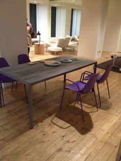 #ILtavolo #table #concrete finishing and #mammamia #chairs at #Spazio #Cavana #ZinelliPerizzi #Trieste #youropinionworld