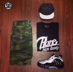 """""""Signature"""" Tee From The Plane Boys Society Summer 14' Collection w/ Concord Nike Foamposite"""