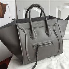 Celine phantom gray color original leather
