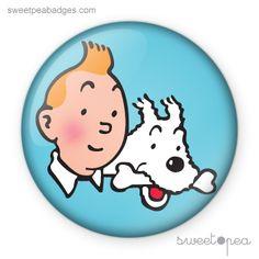 #404 - Tintin & Milou   Sweet Pea Badges