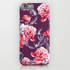 Peony iPhone & iPod Case #peony #floral #flowers #botanical #leaves #fashion #iPhone