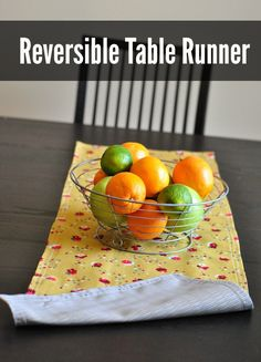 How to Sew a Reversible Table Runner With FREE Printable PDF Pattern
