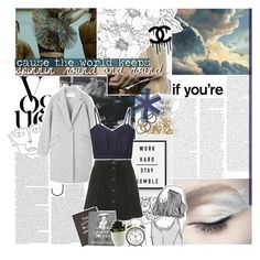 """""""you can't stop an avalanche as it races down the hill"""" by burning-citylights ❤ liked on Polyvore featuring Le Ciel Bleu, Topshop, Steidl, Marni, Rachel Leigh, Chanel and magazinesets"""