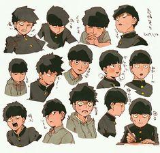 Mob Psycho Kageyama Shigeo ONE's webcomic begun its book about 04 on Anime Manga, Anime Art, Mob Psycho 100 Anime, Character Art, Character Design, Mob Physco 100, Demon Slayer, Kageyama, One Punch Man