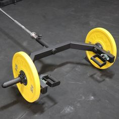 Clean N Jerk Attachment Rotating Handles is part of fitness - Take your workout to the next level with the Titan Landmine Trap Bar Attachment! Home Made Gym, Diy Home Gym, Gym Room At Home, Crossfit Equipment, Home Gym Equipment, No Equipment Workout, Training Equipment, Crossfit Home Gym, Dream Home Gym