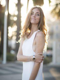 Simple White Round-neck Maxi Dress