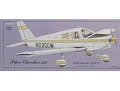 """The Guillows 1/20 Piper Cherokee 140 is a balsa wood aircraft model kit from the range manufactured by Guillow.  Fast, maneuverable, with a modern low wing and """"total handling ease"""", the all metal Piper Cherokee 140 has been a common sight airports all over the country. More than just a point to point means of transportation, the 140 is licensed for spins, lazy 8's and chandelles characteristics which made the world famous Piper Cub the leading sport plane of its era."""