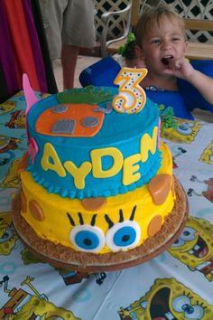 Sponge Bob Cake Made by Me and Christy