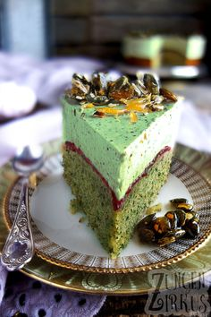 Pumpkin seed cake with pumpkin seed mousse and brittle - tongue circus - wonderful . - Pumpkin seed cake with pumpkin seed mousse and brittle – tongue circus – Wonderful pumpkin seed - Baking Recipes, Cake Recipes, Dessert Recipes, Pumpkin Recipes, Fingers Food, Seed Cake, Zucchini Cake, Cupcakes, Food Cakes