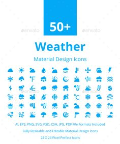 50+ Weather Material Design Icons