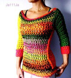 Desigual style by Ja111Ja - SAShE.sk - Handmade Sweaters / Pullovers