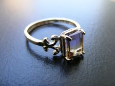 S298 Sterling Silver Scrollwork Ring With 1 carat Natural Ametrine Gemstone | Jewelry & Watches, Fine Jewelry, Fine Rings | eBay!