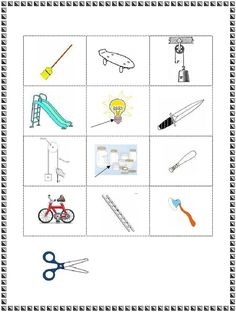 Find the Simple Machines | Science worksheets, 4). and Simple