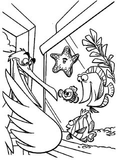 Finding Nemo Nigel Finding Nemo Coloring Pages, Coloring Pages For Kids, Emo Disney, Drawing, Image Search, Art, Finding Nemo, Painting & Drawing, Paintings