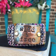 A personal favorite from my Etsy shop https://www.etsy.com/listing/488558904/wild-and-free-faith-bracelet-custom
