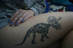 This is Tiny, my triceratops. Done by Katie at Studio 123, St Catharines, Ontario.