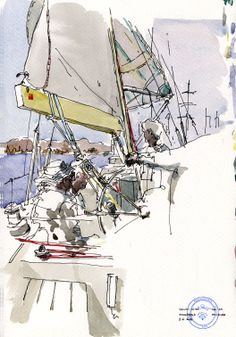 713 / sailing and paint with the spinnaker on / Malvarrosa / Valencia
