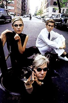 Burt Glinn photographs of Edie, Chuck, and Andy in the manhole were taken on January 1, 1966, for an article in the London newspaper The Sunday Times.