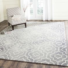 Shop for Safavieh Handmade Dip Dye Watercolor Vintage Grey/ Ivory Wool Rug (9' x 12'). Get free shipping at Overstock.com - Your Online Home Decor Outlet Store! Get 5% in rewards with Club O!