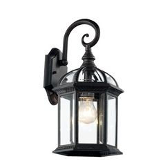 Features:  -Beveled glass.  -UL listed for wet location.  -Cast aluminum construction.  -Outdoor collection.  Fixture Type: -Wall lantern.  Fixture Material: -Metal.  Shade Material: -Glass.  Bulb Typ