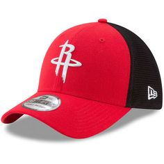 770cbbebc32 Youth Houston Rockets New Era Red On-Court 39THIRTY Flex Hat Nba Houston  Rockets