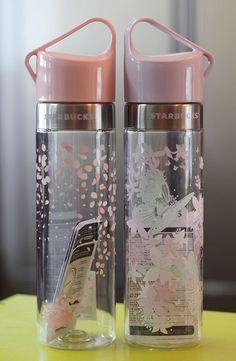 Korea Starbucks 2016 Cherry blossom Spring Butterfly Clay water bottle 591ml SET #Starbucks