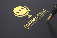 Global Chat Logo Design - Brannet Market Professional Logo Design, Minimal Logo, Creative Logo, Logos, Logo