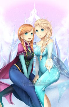 Let it Go | Anna and Elsa by Kamaniki