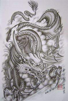 """Résultat de recherche d'images pour """"tattoo dragon arm"""""""