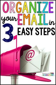 3 Easy Steps for Organizing your Work Email - Organizing your work email effectively can be such a challenge! I have tried so many different systems for organizing my work email, but I always had a terrible time staying on top of it. Until now. This is the easiest email organization system I have ever tried… and it works like a charm. Never be overwhelmed by your work email again!