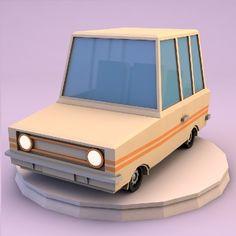 nice Low poly family car