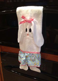 Adorable bunny oven towel