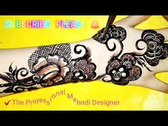मेहंदी डिजाइन, مہندی ڈیزائن, Latest Arabic Black Cone Mehndi Design 2019 Full Hand Back Side Design - YouTube Stylish Mehndi Designs, Best Mehndi Designs, Arabic Mehndi Designs, Mehndi Designs For Hands, Mehandi Designs, Hand Mehndi, Urdu Quotes, Tattoos, Channel