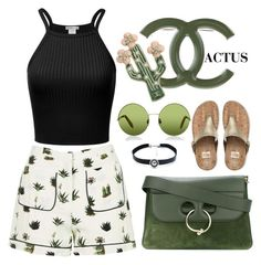 """""""Cactus."""" by itsmenay on Polyvore featuring Topshop, J.W. Anderson, FitFlop, Victoria, Victoria Beckham, Child Of Wild and Chanel"""