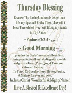Morning Scripture, Good Morning Prayer, Daily Scripture, Morning Prayers, Daily Devotional, Thursday Greetings, Thankful Thursday, Morning Greetings Quotes, Morning Quotes