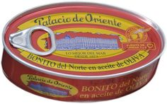 Palacio de Oriente 1873; witte tonijn in olijfolie. Het bedrijf Palacio de Oriente heeft zich gespecialiseerd in het verpakken van witte tonijn, sardines en ansjovis. De stad Vigo is de grootste vissershaven van Europa en is de thuisbasis van de beroemde Spaanse visproducent Palacio de Oriente.