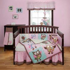 Calico Owls 3 Piece Baby Crib Bedding Set by Bananafish Image - bancoa0683 - Type 1