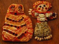 Halloween Kid Pizzas