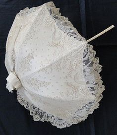 Circa 1860, Rare Brussels Lace Parasol with Chinoiserie Pavillions PUBLISHED APRIL 9, 2016 AT 395 × 456 IN YOUR WEEKEND WOW!